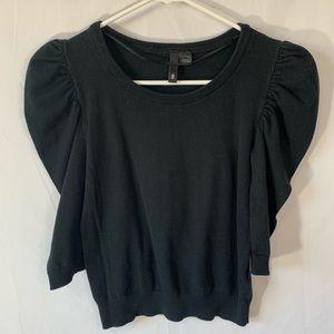 Hm divided crewneck quarter sleeve sweater top